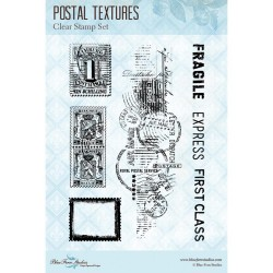 "Postal Textures Clear Stamps 4""x6"" Blue Fern Studios"