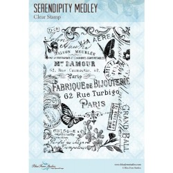 "Serendipity Medley Clear Stamps 4""x6"" Blue Fern Studios"