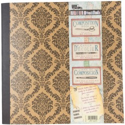 "Damask Architextures Kraft Composition Book 12""x12"" 7 Gypsies"