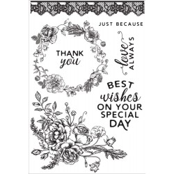 "Sage & Grace Clear Stamps 6""x4"" Kaisercraft"