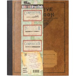 "Creative Notebbok Architextures Kraft Composition Book 5""x6"" 7 Gypsies"