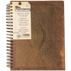 "Baroque Faux Leather Spiral Book 8.5""x11"" 7 Gypsies"