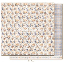 "Carta Floral 12""x12"" Denim & Friends Collection Maja Design"