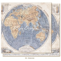 "Carta Globetrotter 12""x12"" Denim & Friends Collection Maja Design"
