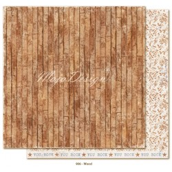 "Carta Wood 12""x12"" Denim & Friends Collection Maja Design"