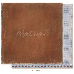 "Carta Leather 12""x12"" Denim & Friends Collection Maja Design"