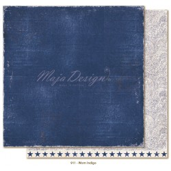 "Carta Worn Indigo 12""x12"" Denim & Friends Collection Maja Design"