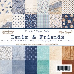 "Denim & Friends 6""x6"" Paper Pack Maja Design"