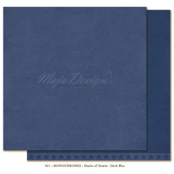 "Dark Blue Monochromes - Shades of Denim 12""x12"" Maja Design"