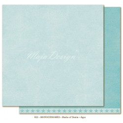 "Aqua Monochromes - Shades of Denim 12""x12"" Maja Design"