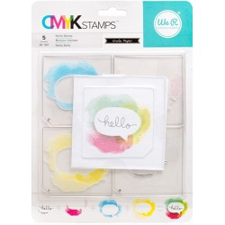 """Hello CMYK Stamp Kit 3""""x3"""" We R Memory Keepers"""
