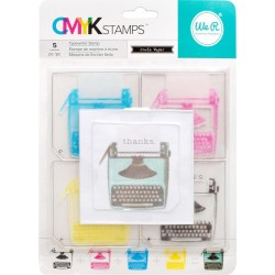 "Typewriter CMYK Stamp Kit 3""x3"" We R Memory Keepers"