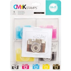 "Camera CMYK Stamp Kit 3""x3"" We R Memory Keepers"