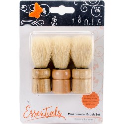 Mini Blending Brush Set 3 Pkg Tonic Studio