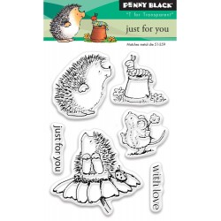 """Just For You Clear Stamps 3""""x4"""" Penny Black"""