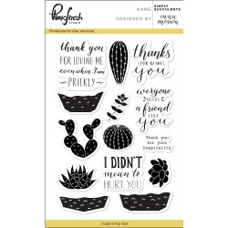 "Simply Succulents Clear Stamp Set 4""x6"" Pinkfresh Studio"