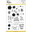 "Say It With Florals Clear Stamp Set 4""x6"" Pinkfresh Studio"