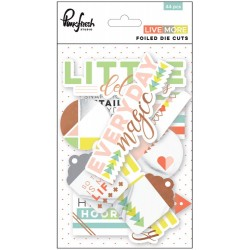 Live More Cardstock Foiled Die-Cuts 45 Pkg Pinkfresh Studio