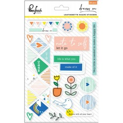 Dream On Leatherette Shape Stickers 26 Pkg Pinkfresh Studio