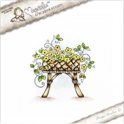 Timbro Grandpa's Flower Basket Magnolia Rubber Stamp - CG17