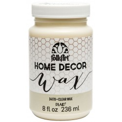 Clear Wax 236 ml FolkArt Home Decor Plaid