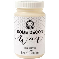 White Wax 236 ml FolkArt Home Decor Plaid