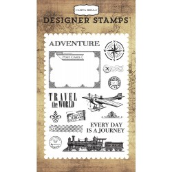 Travel The World Clear Acrylic Deigner Stamps Carta Bella