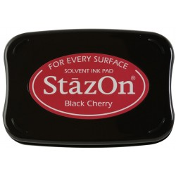 Black Cherry Staz On Solvent Ink Pad