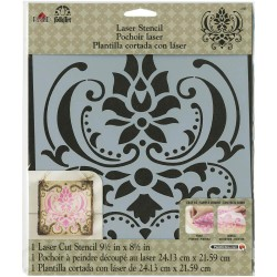 "Damask Stencil 8,5""x9,5"" FolkArt Home Decor Plaid"