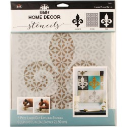 "Layer Fleur De Lis Stencil 8,5""x9,5"" FolkArt Home Decor Plaid"
