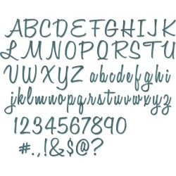 Alphanumeric Script Thinlits Dies by Tim Holtz Sizzix