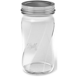 8 oz Ball Wide Mouth Spiral Jars 4 Pkg Elite Collection