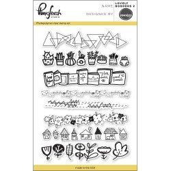 "Lovely Borders 2 Clear Stamp Set 4""x6"" Pinkfresh Studio"