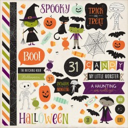 "Halloween Town 12""x12"" Element Stickers Echo Park"