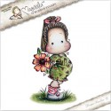 Timbro Tilda with Big Poppy Magnolia Rubber Stamp - YB17