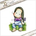Timbro Laze Around Tilda Magnolia Rubber Stamp - YB17