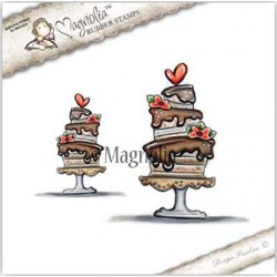 Timbro Frosting Heart Cake Magnolia Rubber Stamp - YB17