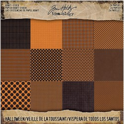 "Halloween Craft Stock Cardstock 8""x8"" Idea-ology by Tim Holtz"