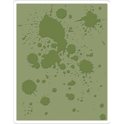 Ink Splats Texture Fades A2 Embossing Folder Sizzix by Tim Holz