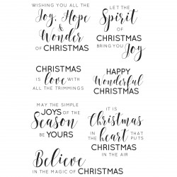 "Traditional Sentiments Clear Stamps 6""x4"" Kaisercraft"