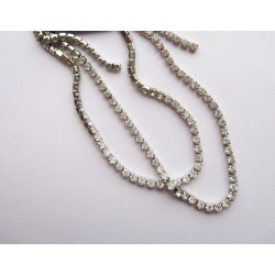 Strass Chain Platinum 2,5mm x 50cm