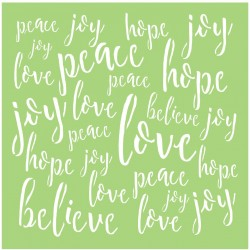 "Love & Peace Designer Template 6""x6"" Kaisercraft"