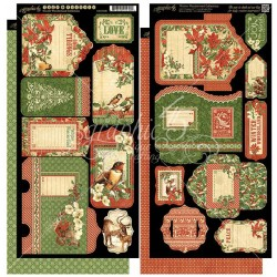 "Winter Wonderland Cardstock Die-cuts 6""x12"" Graphic 45"