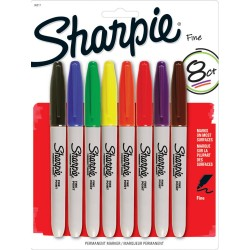 Assorted Colors Fine Point Permanent Markers 8 Pkg Sharpie