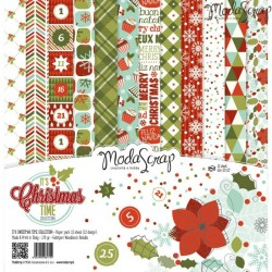 "It's Christmas Time 12""x12"" Paper Pack ModaScrap"