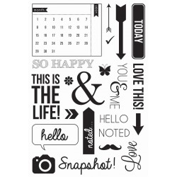 "Captured Moments Calendarl Clear Stamps 6""x4"" Kaisercraft"