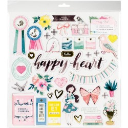 "Chasing Dreams Adhesive Chipboard Stickers with Foil Maggie Holmes 12""X12"""