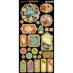 "Seasons Decorative Chipboard Die-cuts 6""x12"" Graphic 45"