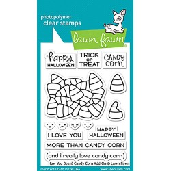 "How You Bean? Candy Corn Clear Stamp 3""x4"" Lawn Fawn"