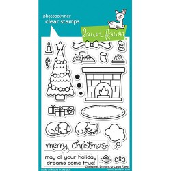 """Christmas Dreams Clear Stamps 4""""x6"""" Lawn Fawn"""